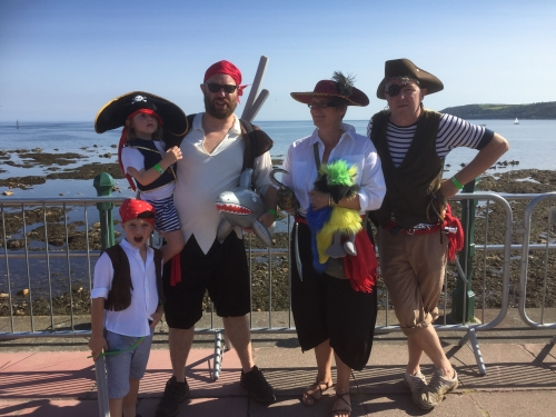 The World Record attempt - Pirate Day in Penzance, August 2017