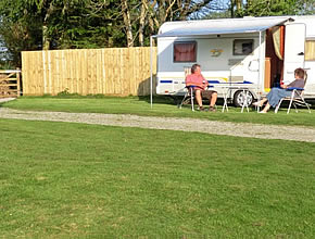 Campers enjoying a short break at our campsite at Hendrifton
